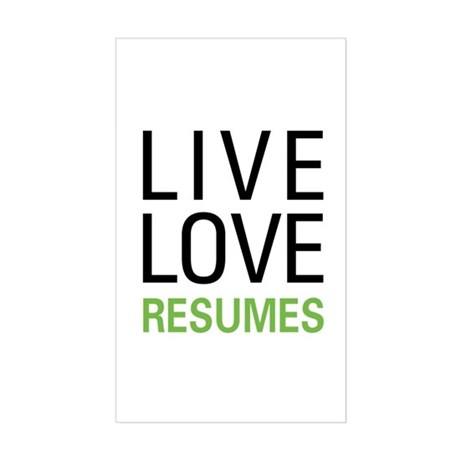 Live Love Resumes Rectangle Sticker
