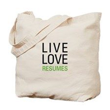 Live Love Resumes Tote Bag