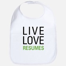 Live Love Resumes Bib