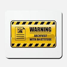 Warning Archivist Mousepad
