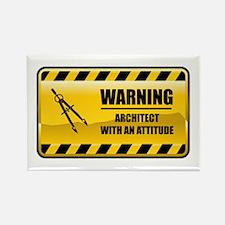 Warning Architect Rectangle Magnet