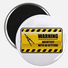 "Warning Architect 2.25"" Magnet (10 pack)"