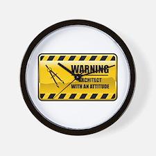 Warning Architect Wall Clock