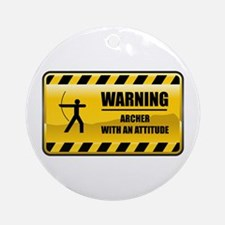 Warning Archer Ornament (Round)