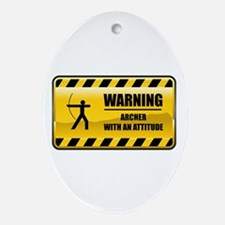 Warning Archer Oval Ornament