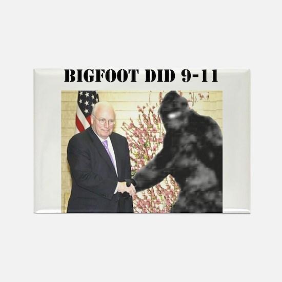 cheney bigfoot handshake Magnet