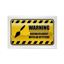 Warning Archaeologist Rectangle Magnet