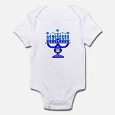 Blue Menorah  Infant Bodysuit