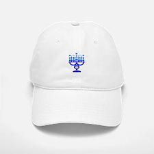 Blue Menorah Baseball Baseball Cap