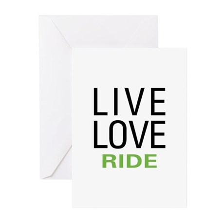 Live Love Ride Greeting Cards (Pk of 10)