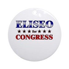 ELISEO for congress Ornament (Round)