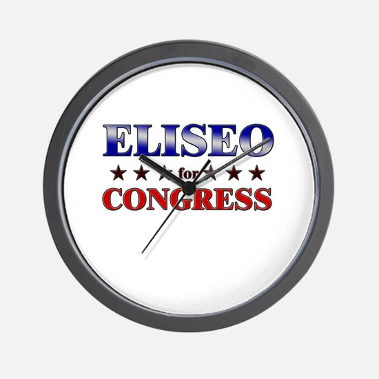 ELISEO for congress Wall Clock