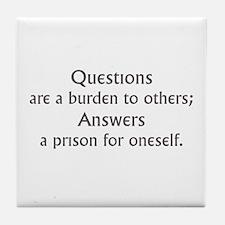 Questions Tile Coaster