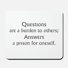 Questions Mousepad
