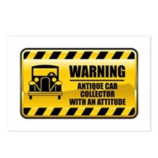Warning Antique Car Collector Postcards (Package o