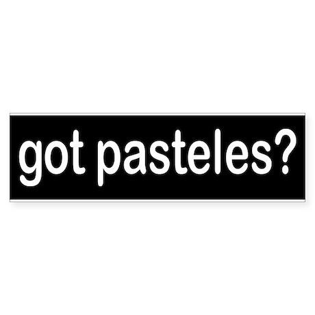 got pasteles? Bumper Sticker