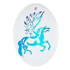 Simple Pegasus Oval Ornament