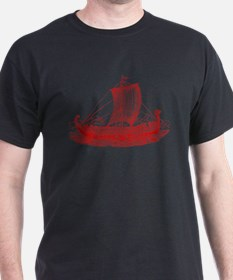 Cool Vintage Viking Ship Design T-Shirt
