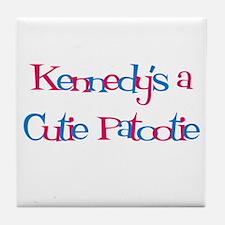 Kennedy's a Cutie Patootie Tile Coaster
