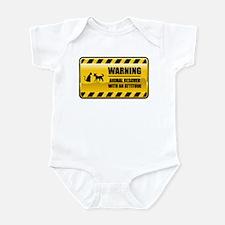Warning Animal Rescuer Infant Bodysuit