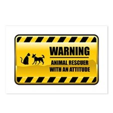 Warning Animal Rescuer Postcards (Package of 8)