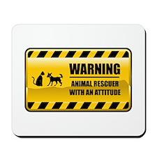 Warning Animal Rescuer Mousepad