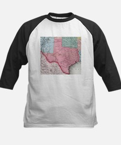 Vintage Map of Texas (1853) Baseball Jersey