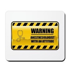 Warning Anesthesiologist Mousepad