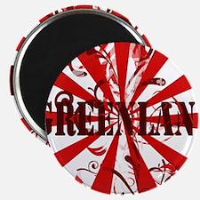 Red vintage Greenland Magnet
