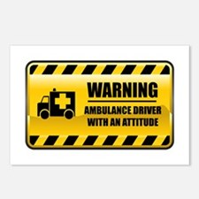 Warning Ambulance Driver Postcards (Package of 8)