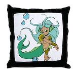 Anime Merman Throw Pillow