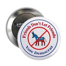 "Anti-Democrat 2.25"" Button"