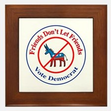 Anti-Democrat Framed Tile