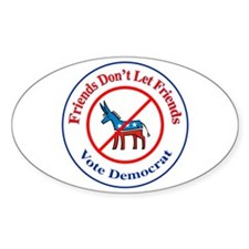 Anti-Democrat Oval Decal