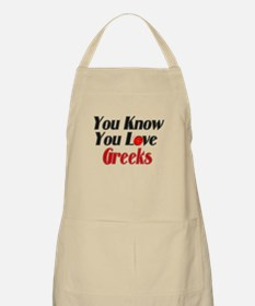 You know you love Greeks BBQ Apron