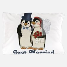 Cute Just married penguin Pillow Case
