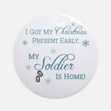 Early Present Ornament (Round)