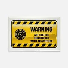 Warning Air Traffic Controller Rectangle Magnet