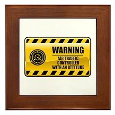 Warning Air Traffic Controller Framed Tile