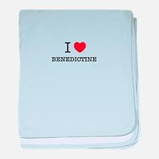 I Love BENEDICTINE baby blanket
