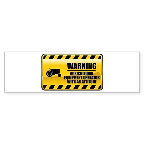 Warning Agricultural Equipment Operator Sticker (B