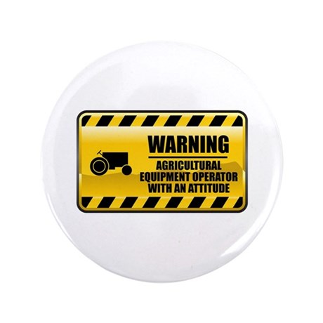 """Warning Agricultural Equipment Operator 3.5"""""""