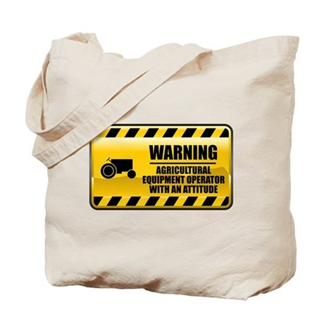 Warning Agricultural Equipment Operator Tote Bag