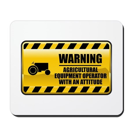 Warning Agricultural Equipment Operator Mousepad