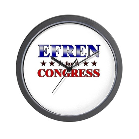 EFREN for congress Wall Clock