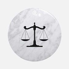Scales of Justice Round Ornament