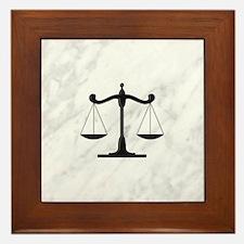 Scales of Justice Framed Tile