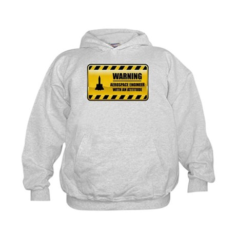 Warning Aerospace Engineer Kids Hoodie