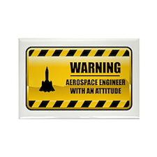 Warning Aerospace Engineer Rectangle Magnet
