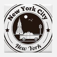 New York City Icons Tile Coaster